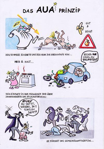 Aua Prinzip 1 - Comic von Petra Kaster